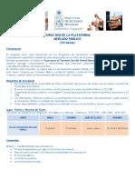 Programa Curso Plataforma Mercado Publico