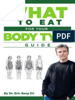 What to Eat for Your Body Type Booklet