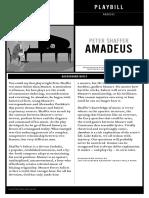 Soulpepper's Amadeus Playbill