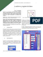 Manejo de Archivos y Registro de Datos