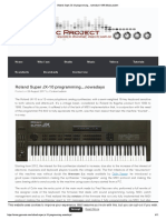 Roland Super JX-10 Programming…Nowadays