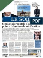 Journal Le Soir Bruxelles Wallonie Du Samedi 6 Dimanche 7 Janvier 2018