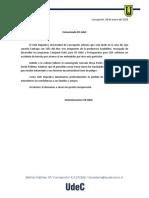 Comunicado Accidente equipo Campanil UdeC y Protagonistas del CDF
