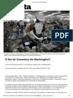 O Fim Do Consenso de Washington