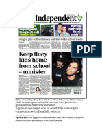 FG Government Says Keep Fluey Kids Home From School Says Minister Harris and other corrupt stories only in Ireland