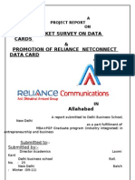Promotion of Reliance Net Connect Data Card