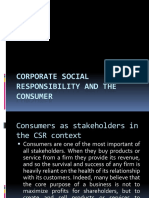 Corporate Social Responsibility and the Consumer