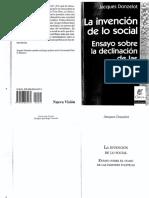 book. Jacques Donzelot. La invencion de lo social.pdf