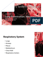 RespPath Lecture 3a Lung Examination Abnormal