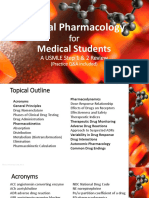 Clinical Pharmacology for USMLE Step 2