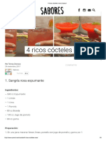 4 Ricos Cócteles Rosa - Upsocl