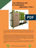 Unit Instalasi Pengolah Air Limbah IPAL Type C