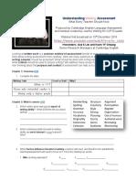 Understanding WRITING Assessment Webinar 3