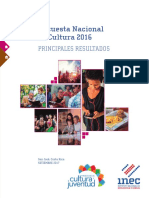 Encuesta Nacional Cultura 2016