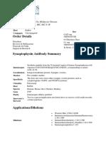 Data Shet Synaptophysins