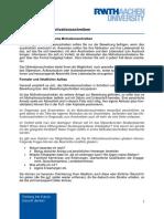 FAQ Motivationsschreiben PDF