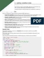 Jdbc Sample Code