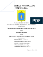 Informe de Plasticidad Mecanica de Suelos