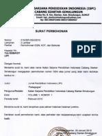 Surat Permohonan ISSN Pedagogos