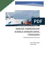 analisis keselamatan tentang kecelakaan kapal di perairan kalimantan