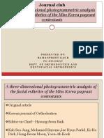 3-D Photogrammetric Anzalysis