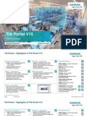 Technical Slides TIA Portal V15 En | Operating System