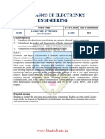 Ec100 Basics of Electronics Engineering