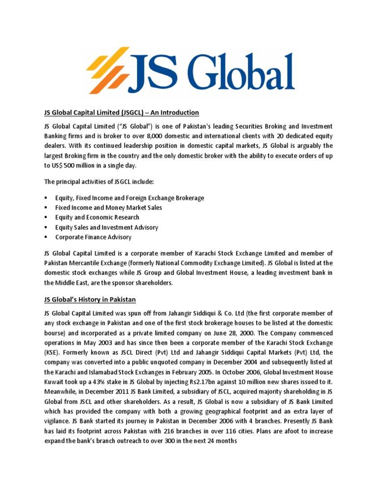 Js Global | Financial Economics | Business Economics