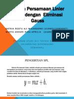 Sistem Persamaan Linier (SPL) Dengan Eliminasi Gauss