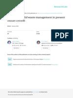 Scenario of Solid Waste Management in Present Indi