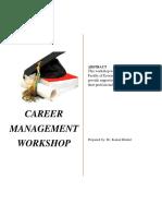 Career Management Workshop for FEA