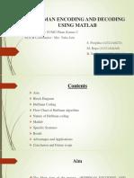 Huffman Coding using MATLAB (PoojaS)