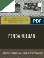 Analisis Kerusakan Jalan Pada Jalan Soekarno-hatta