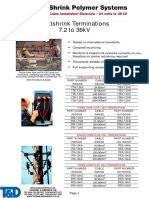 High Voltage Cable Terminations & Joint Kits, LV, 3.3 33kV SPS Catalogue