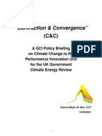 GCI C&C Submission to Performance and Innovation Unit [PIU] Report to UK Cabinet Office on Climate change