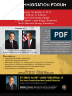Bronx (Espada) Immigration Forum