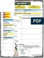 Daily Lesson Plan Template (YEAR 5)