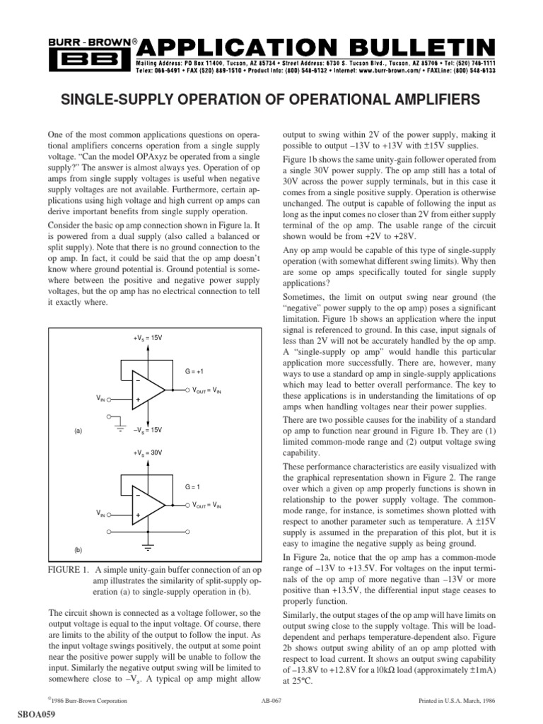 Sboa059pdf Amplifier Operational Op Amp Is The Buffer In This Power Supply Circuit Required
