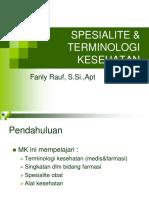 1. Pendahuluan Terminologi & Spesialit