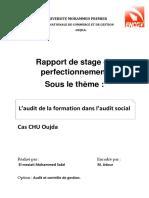 L'Audit de La Formation Dans l'Audit Social Cas CHU Oujda