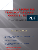 The Legal Regime for Transportation of Goods