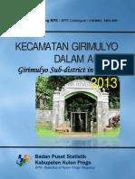 Kecamatan Girimulyo Dalam Angka 2013