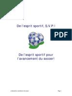 De l'Esprit Sportif