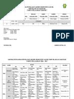 Jadwal Pas Genap 2016-2017 New
