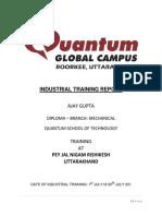Industrial Training Report Pey Jal Nigam Rishikesh
