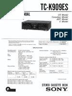Tc-K909ES Cassette Deck SM