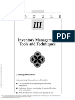 Inventory Management From Warehouse to Distributio... ---- (MODULE III Inventory Management Tools and Techniques)