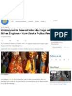 Kidnapped & Forced Into Marriage at Gun Point, Bihar Engineer Now Seeks Police Protection