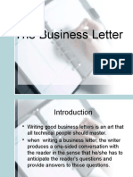 The Business Letter Formats