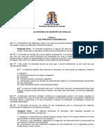 .Lei Orgânica Do Município de Aracaju